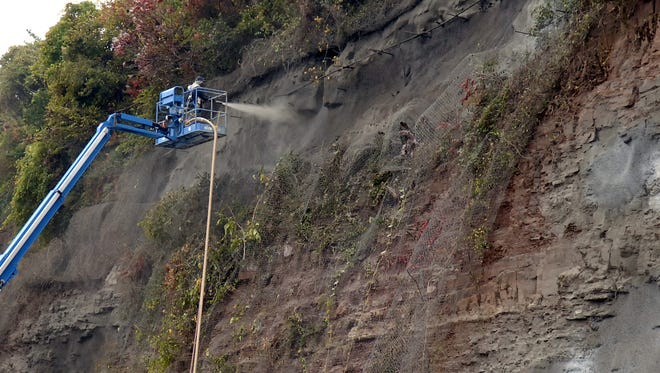 Maintenance in the area of North Arlington's former copper mines takes place on Oct. 27, 2009.
