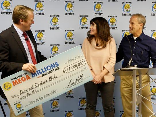 (L to R) Aric Nesbitt, Michigan Lottery commissioner