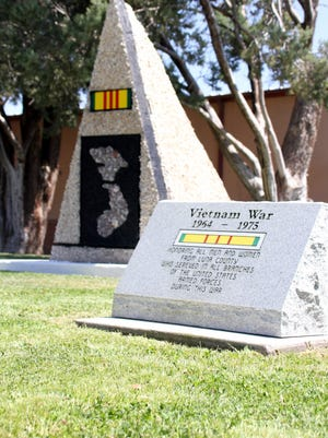 The Vietnam Memorial Monument will be unveiled at 9:30 a.m. on Friday at Veterans Park.