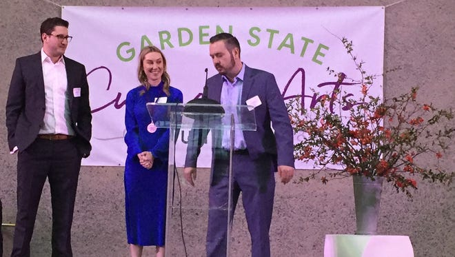 The owners of Hearthside in Collingswood accept their Garden State Culinary Arts Award for Outstanding New Restaurant. Hearthside opened last year in Collingswood.