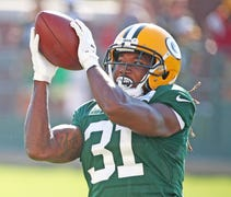 Green Bay Packers cornerback Davon House is trying...