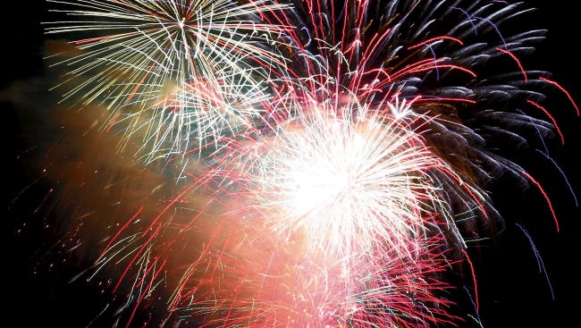 In this 2014 file photo, fireworks are on full display at a Fourth of July event in Alamogordo.
