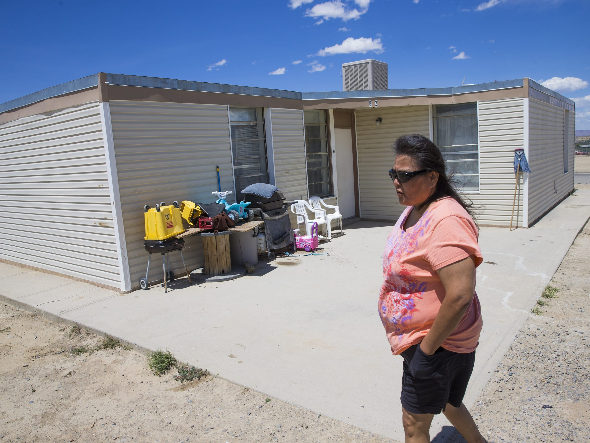 Carletta Begay's three-bedroom home in South Shiprock, N.M., is too small for her family of six.