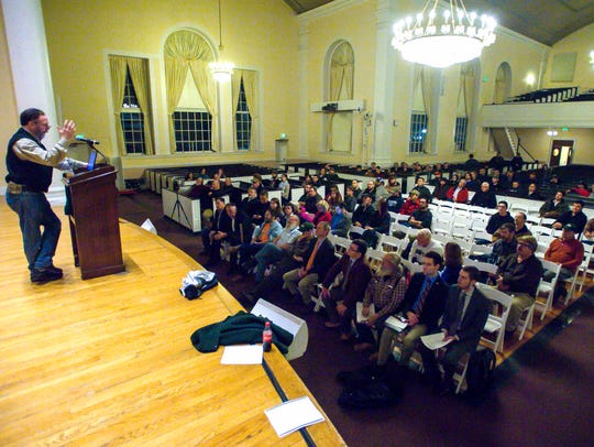 Bill Moore of the Vermont Traditions Coalition speaks
