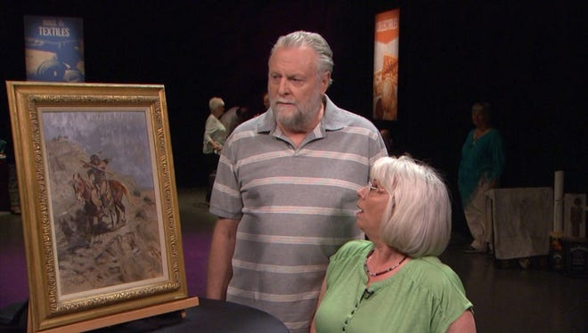 "Wynn and Shirley Lesure of New River in an October 2015 episode of ""Arizona Collectibles."""