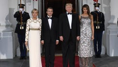 President Trump and first lady Melania Trump welcome