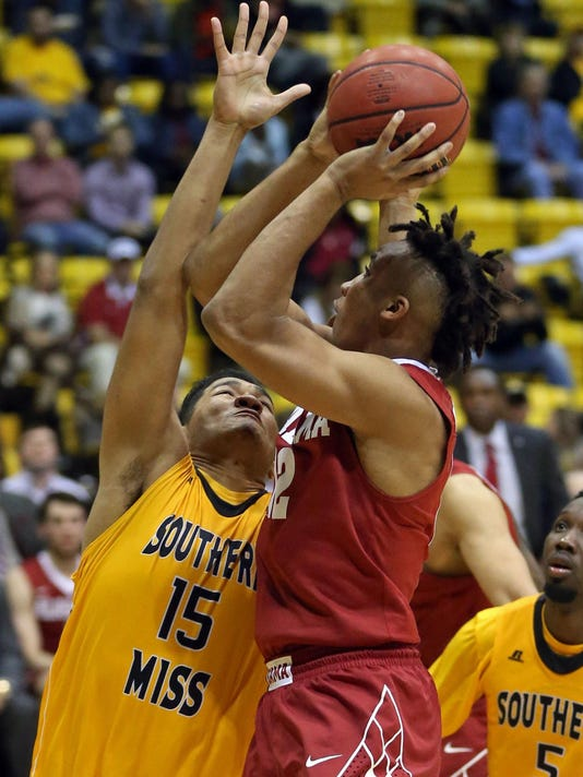 NCAA Basketball: Alabama at Southern Mississippi