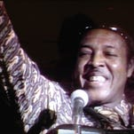 The late Clifton Chenier is shown in a clip from a 1978 film that will be screened March 16 at Vermilionville.