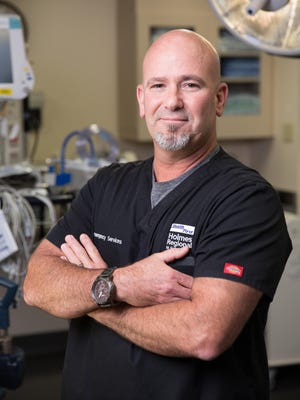 Butch Roberts is Emergency Department RN manager for Health First's Holmes Regional Medical Center in Melbourne.
