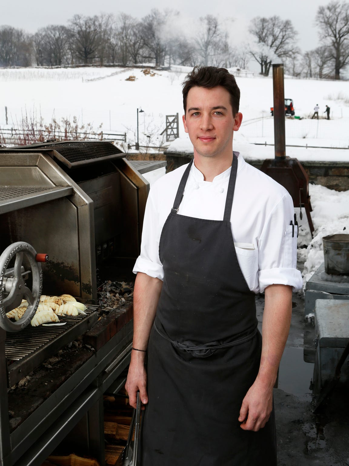 Bastien Guillochon, a stage chef, is getting ready