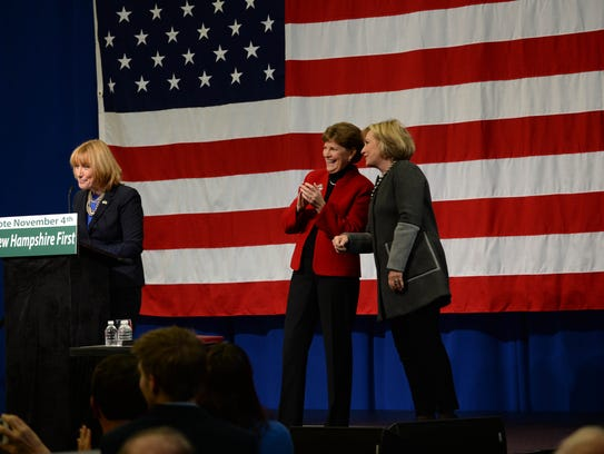New Hampshire Governor Maggie Hassan introduces former