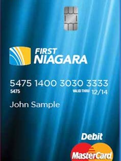 First Niagara Bank said recently that it expects to issue new cards for customers beginning in October.