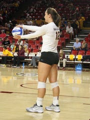 ASU volleyball player Macey Gardner had 594 kills this season, second most ever in school history.