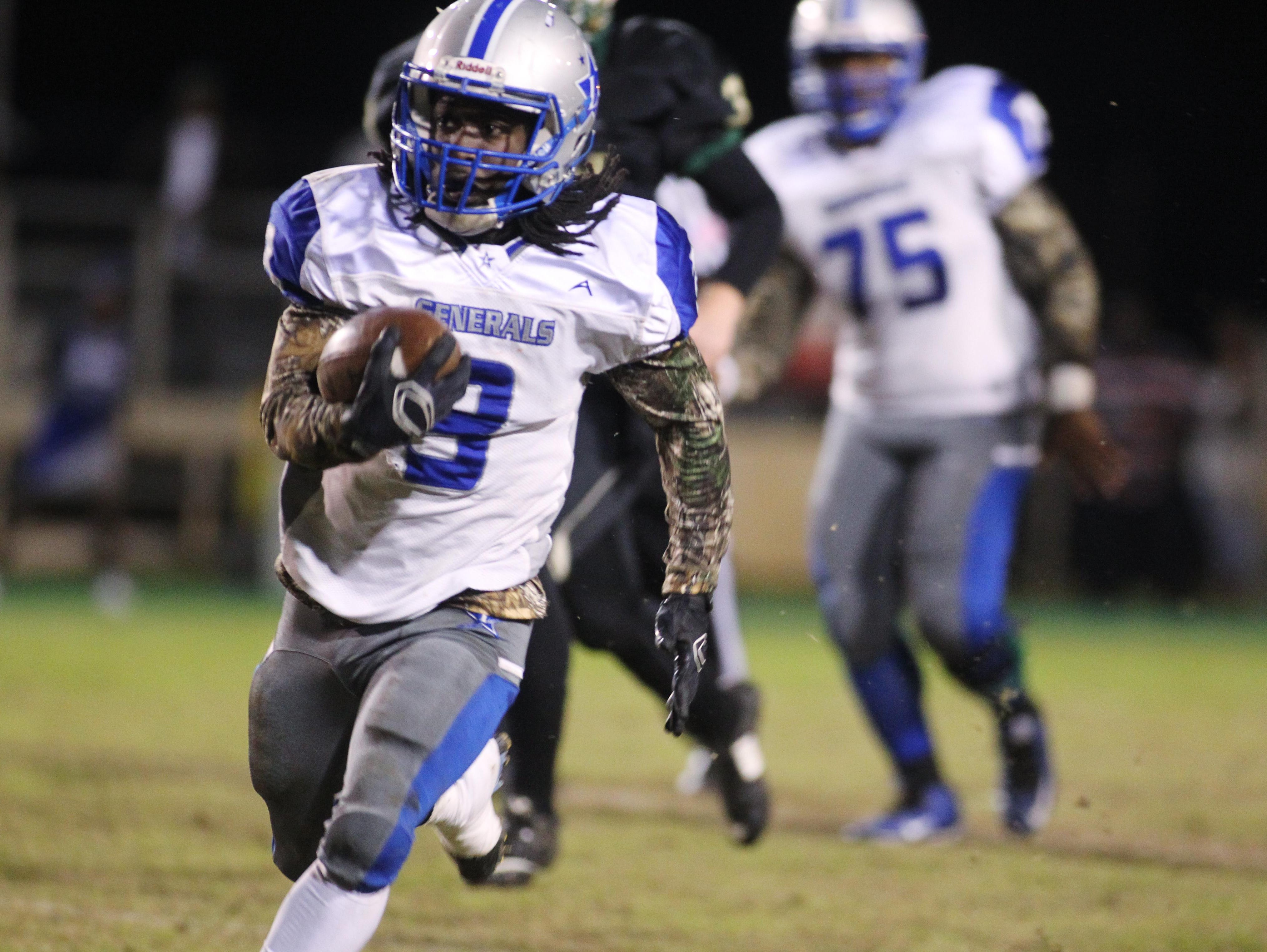Lee running back Tony Belle rushed 25 times for 176 yards and a two touchdowns, while also catching a 19-yard touchdown pass, but the Generals fell to Lincoln 44-41 in overtime.