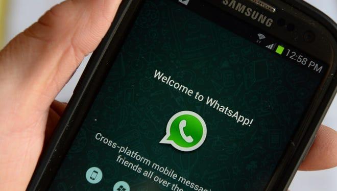 The WhatsApp app.