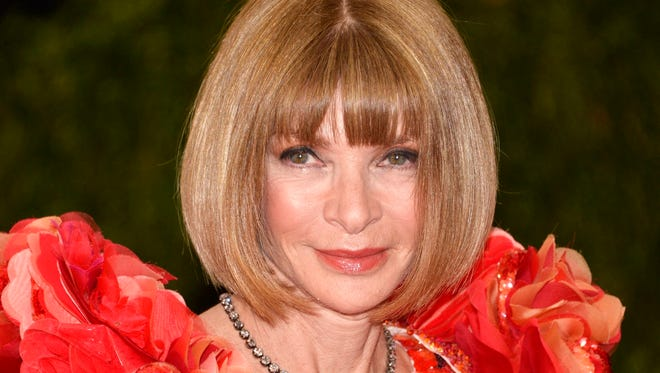 Fashion grand dame Anna Wintour arrives for the Met Gala.