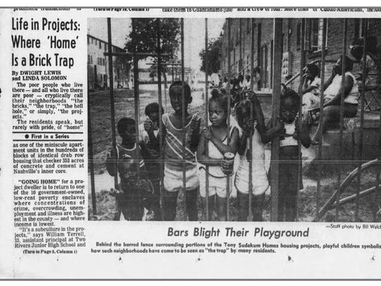 "Part I of The Tennessean's ""Nashville's Inner-City Projects"" ran on Sunday, June 8, 1980, on the front page."