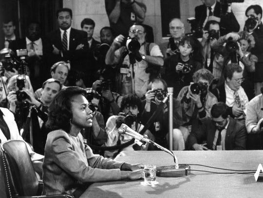 Anita Hill testifies before the Senate Judiciary Committee