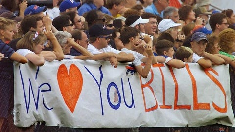 In 2000, the Buffalo Bills  moved their training camp to St. John Fisher College in Pittsford and fans showed their appreciation.