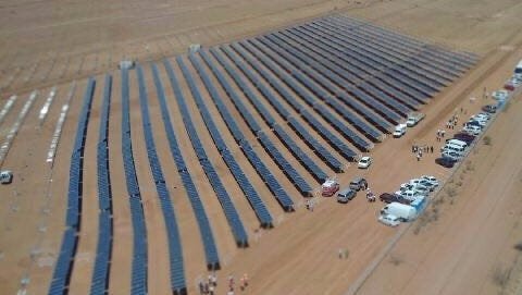 The project Los Santos I Solar Park is being developed over 247 acres located in Moctezuma, a tiny town in the municipality of Ahumada about 30 miles southeast of the town of Villa Ahumada.