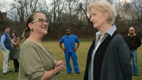 """Susan Craves and Ruth Crawford in Tipping Point Theatre's staging of """"Ripcord."""""""