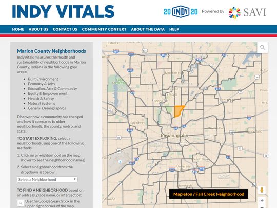 New Online Tool Lets You Compare Indy Neighborhoods