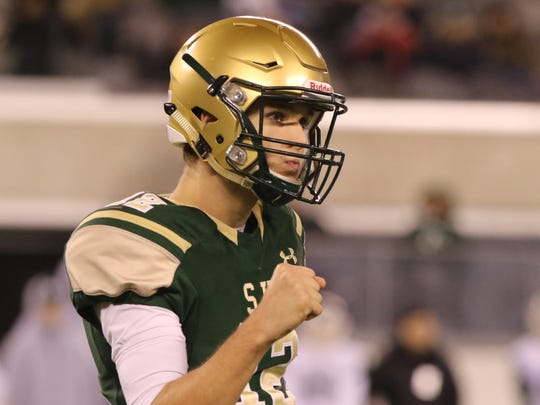 St. Joseph quarterback Nick Patti threw for 1,737 yards and 15 touchdowns last season. Patti is committed to Pittsburgh.