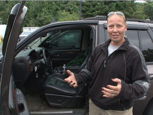 Car hits deer, deer attacks driver