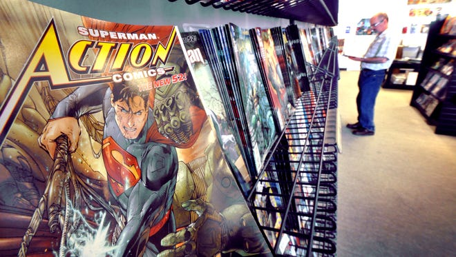 'Free Comic Book Day' is May 4 and Planet X at Queensgate is ready.  Marvel's Iron Man 3 comic book is the featured comic for that day.  Superman, the Man of Steel turns 75 this year.Bil Bowden photos