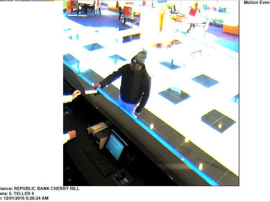 Police say this man held up the Republic Bank branch in Cherry Hill on Dec. 1.