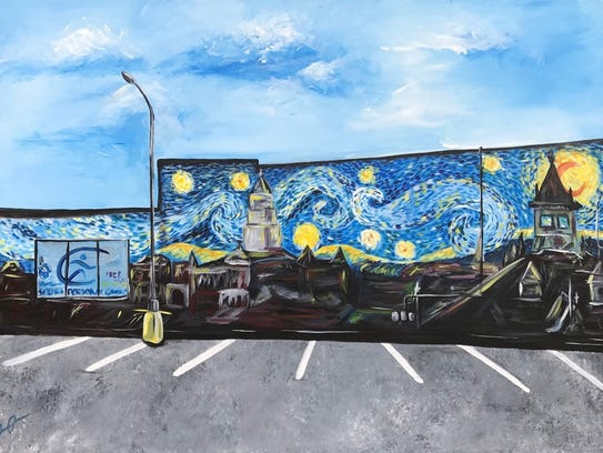 """Clarksville Starry Night"" was designed by Olasubomi"
