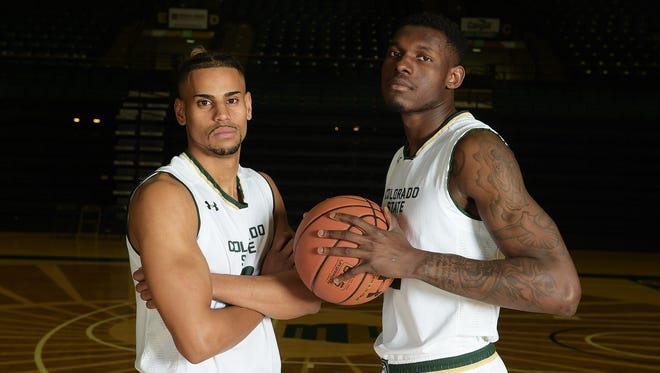 CSU basketball players Gian Clavell and Emmanuel Omogbo, both seniors, will play their final home game at Moby Arena on Tuesday.