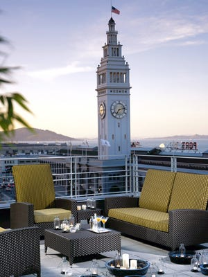 The Terrace at the Hotel Vitale in San Francisco.