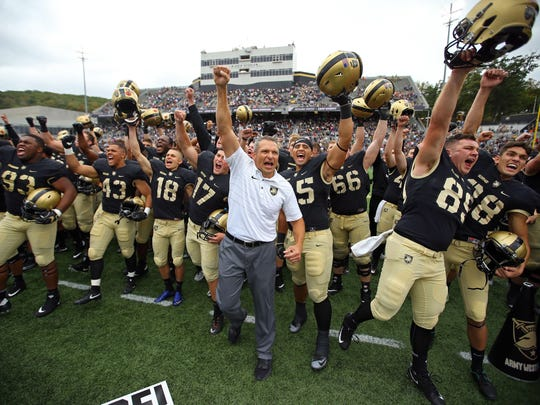 Coach Jeff Monken signed a new deal with Army in September,