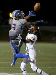 Angelo State's Mark Munson catches the ball during the Rams' game against the University of Texas of the Permian Basin Falcons on Saturday night.