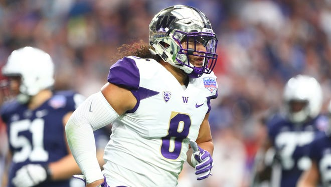 Thanks to a bet with former teammate Will Dissly, Huskies linebacker Benning Potoa'e has sworn off fast food.