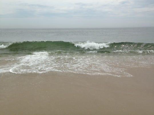 A wave breaks in Sea Bright
