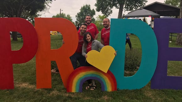 Volunteers from Wells Fargo at the Sioux Falls Pride