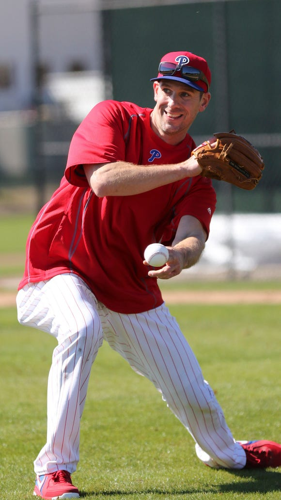 Phillies starting pitcher Cliff Lee (33) during spring training workouts Feb. 19 at Bright House Field. Credit: Reinhold Matay-USA TODAY Sports