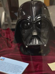 A Darth Vader mask was presented to White Sands Missile Range for its assistance with a Star Wars movie.