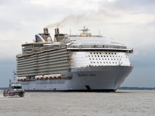 Royal Caribbean's Harmony of the Seas sets off from
