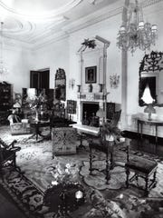Historical photo crica 1932 of the drawing room in