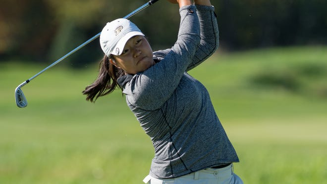 August Kim joins a select group of Purdue women golfers to earn first-team All-Big Ten honors.
