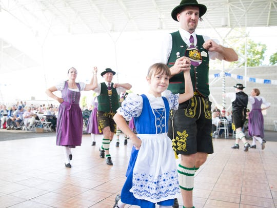 Milwaukee-area German dance groups perform throughout the weekend at German Fest.