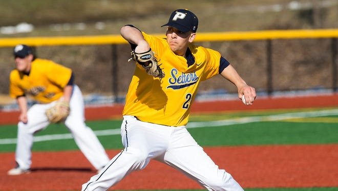 Dan Wirchansky, photographed at Pace University. The North Rockland product is returning home to pitch for the New York Boulders.