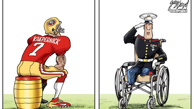 Colin Kaepernick, San Francisco 49er quarterback is not the only one who does not stand for the National Anthem.