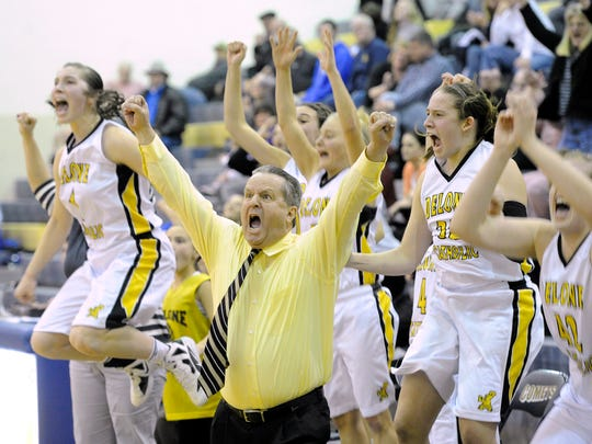 Delone Catholic girls' basketball coach Gerry Eckenrode said his program's longtime strength, it's Catholic school feeder system, is gradually drying up. Meanwhile, he claims his private school has not benefited from transfers like many non-boundary schools in places like Philadelphia.