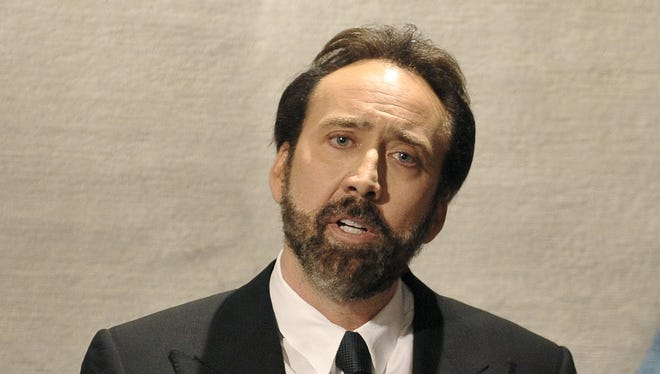 Actor, producer and director and Nicolas Cage delivers a speech during a fund raising event for the United Nations Office on Drugs and Crime in Vienna, on Nov. 5.