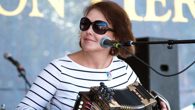 Lisa Trahan, leader of the band L'espirt Cadien, is a longtime member of the Magnolia Sisters.