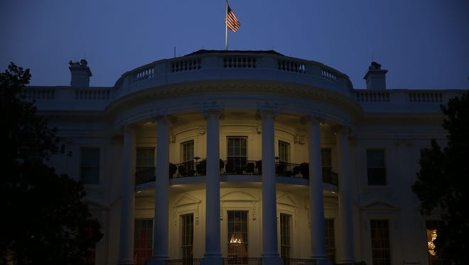 The White House on the evening of June 30, 2015.